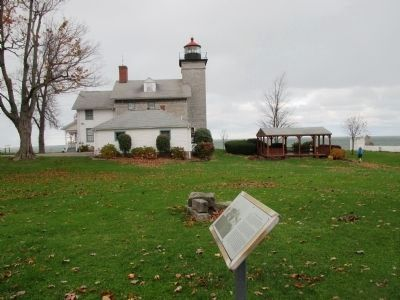 Northward View of Marker and Lighthouse image. Click for full size.