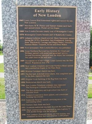 Early History of New London Marker image. Click for full size.