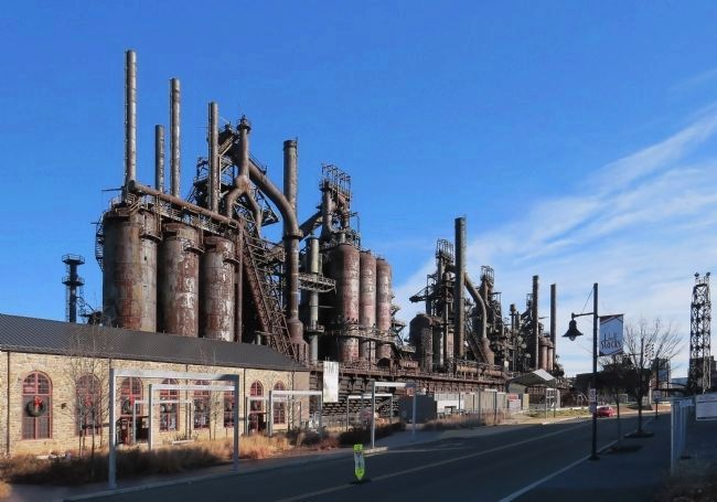 The remaining blast furnaces of the Bethlehem Steel Plant image. Click for full size.
