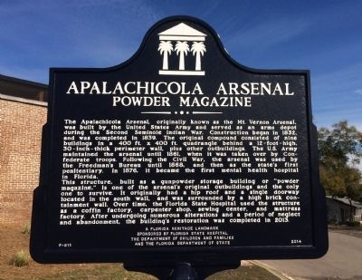 Apalachicola Arsenal Marker image. Click for full size.