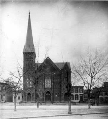 Vermont Avenue Baptist Church, ca. 1899 image. Click for full size.