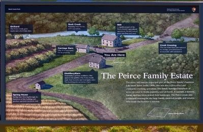 The Peirce Family Estate Marker image. Click for full size.