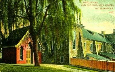 <i>Dead House and Old Moravian Chapel, Bethlehem, Pa.</i> image. Click for full size.