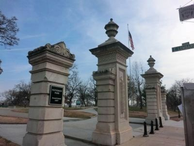 Entrance gates to Patterson Park-Established 1827 image. Click for full size.