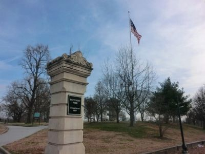 Patterson Park gate-established 1827-Pagoda in the background image. Click for full size.