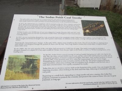 The Sodus Point Coal Trestle Marker image. Click for full size.