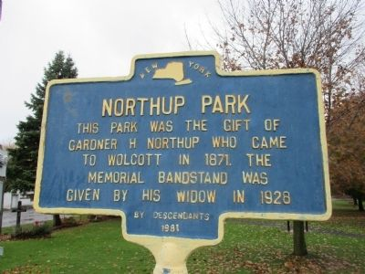 Northrup Park Marker image. Click for full size.