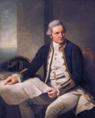 Captain James Cook, portrait by Nathaniel Dance-Holland, c. 1775 image. Click for full size.