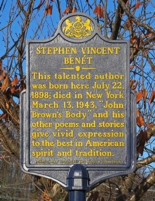 Stephen Vincent Benét Marker image. Click for full size.