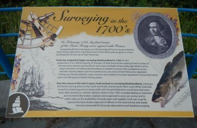 Surveying in the 1700's panel image. Click for full size.