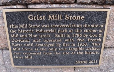 Grist Mill Stone Marker image. Click for full size.
