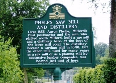 Phelps Saw Mill and Distillery Marker image. Click for full size.