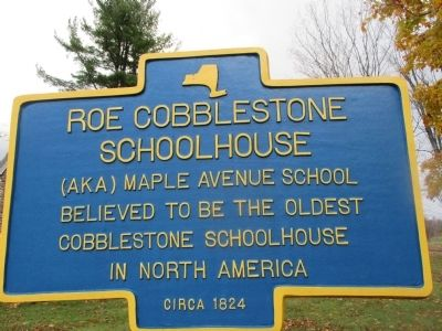 Roe Cobblestone Schoolhouse Marker image. Click for full size.