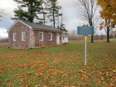 Marker. West and South Sides of Schoolhouse image. Click for full size.