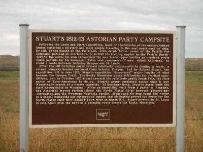 Stuart's 1812-13 Astorian Party Campsite Marker image. Click for full size.