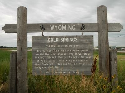Cold Springs Marker image. Click for full size.