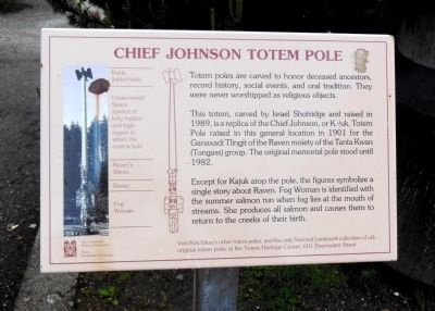 Chief Johnson Totem Pole Marker image. Click for full size.