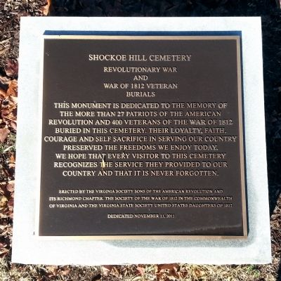 Shockoe Hill Cemetery Marker image. Click for full size.