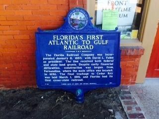 Florida's First Atlantic to Gulf Railroad Marker Relocation image. Click for full size.