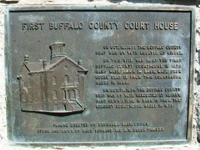 First Buffalo County Court House Marker image. Click for full size.
