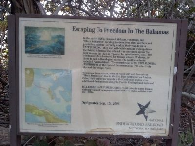 Escaping to Freedom in the Bahamas Marker image. Click for full size.