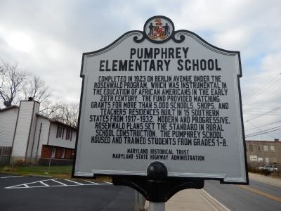 Pumphrey Elementary School Marker image. Click for full size.
