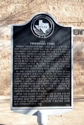 Site of Thornton's Store Marker image. Click for full size.