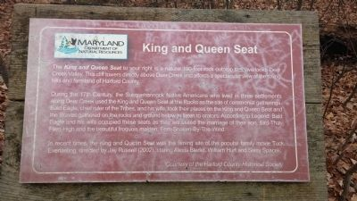 King and Queen Seat Marker image. Click for full size.