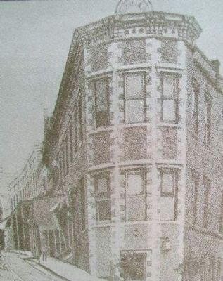 Marker Photo of Second Flat-Iron Bldg image. Click for full size.