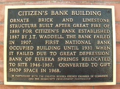 Citizen's Bank Building Marker image. Click for full size.