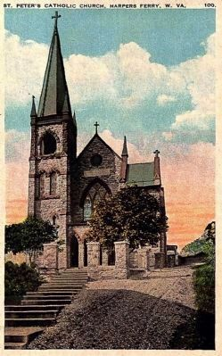 <i> St. Peter&#39;s Catholic Church, Harpers Ferry, W. Va,</i> image. Click for full size.