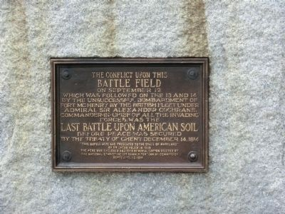 The Conflict upon the Battle Field Marker image. Click for full size.