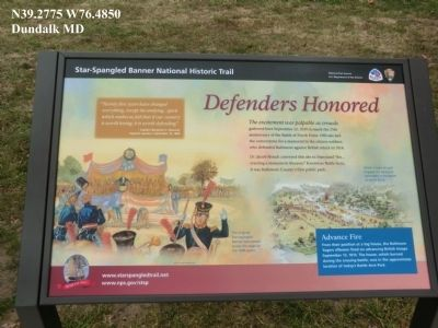 Defenders Honored Marker image. Click for full size.