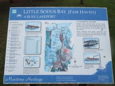 Little Sodus Bay (Fair Haven) Marker image. Click for full size.