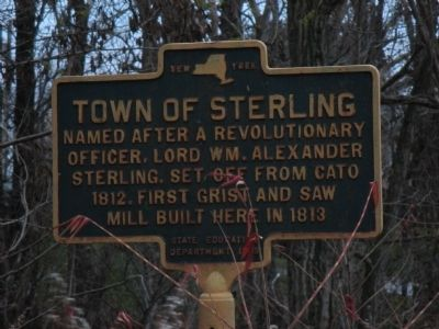 Town of Sterling Marker image. Click for full size.