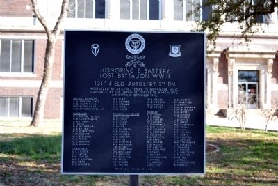Honoring E Battery Lost Battalion WWII Marker image. Click for full size.