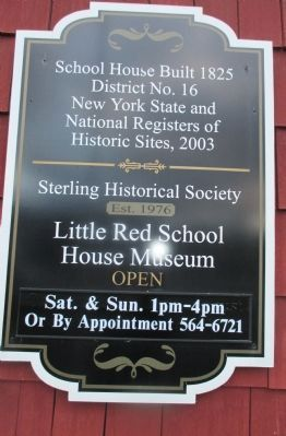 Sterling School House Marker image. Click for full size.