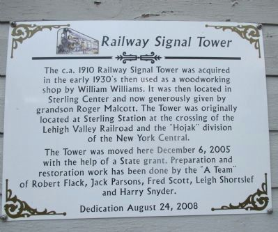 Railway Signal Tower Marker image. Click for full size.