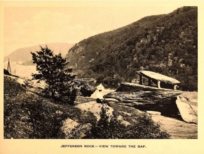 <i>Jefferson Rock - View Toward the Gap.</i> image. Click for full size.