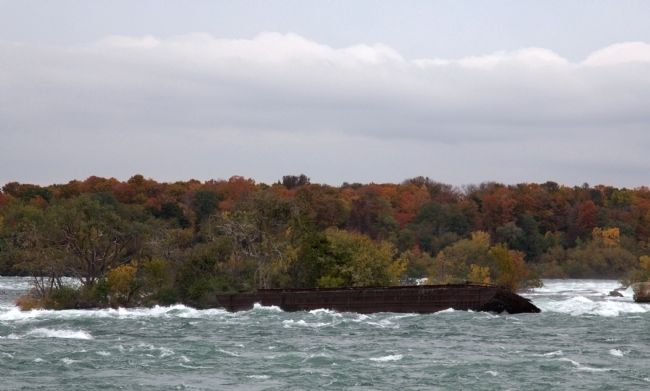 Scow Stranded in the Rapids of the Niagara River, Above the Falls image. Click for full size.