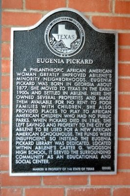 Eugenia Pickard Marker image. Click for full size.