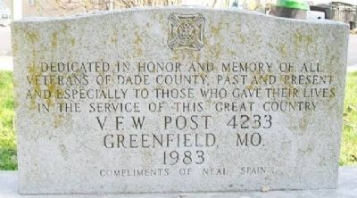 Veterans Memorial Marker [Side A] image. Click for full size.