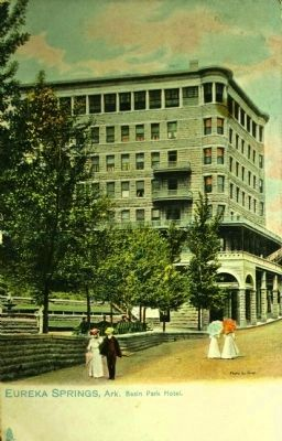 <i>Eureka Springs, Ark. Park Basin Hotel.</i> image. Click for full size.
