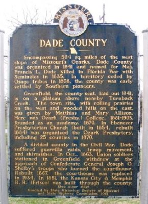 Dade County Marker (Side A) image. Click for full size.