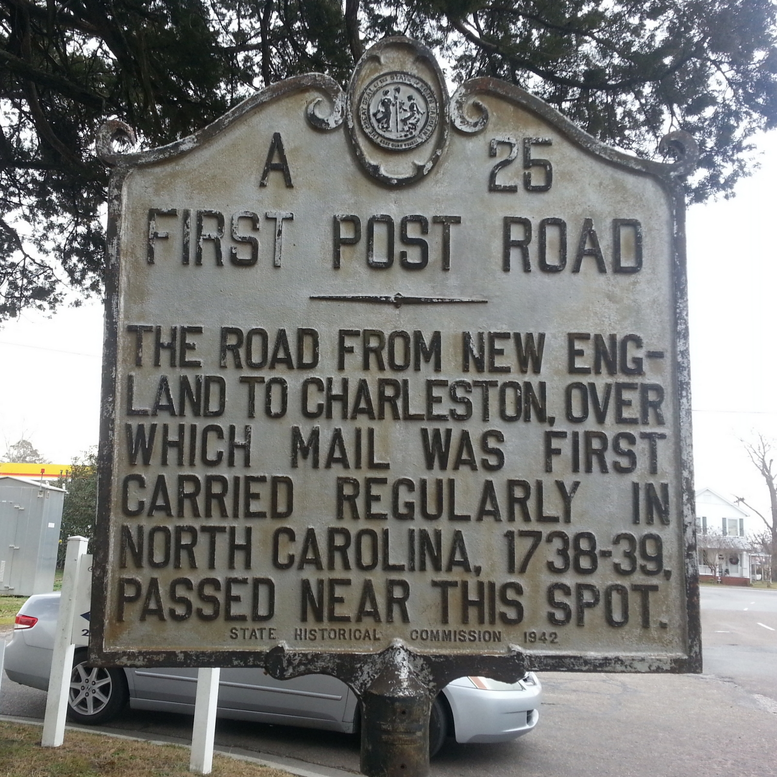 First Post Road Marker