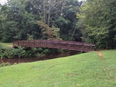 The Pedestrian bridge over Beaver Dam Creek. image. Click for full size.