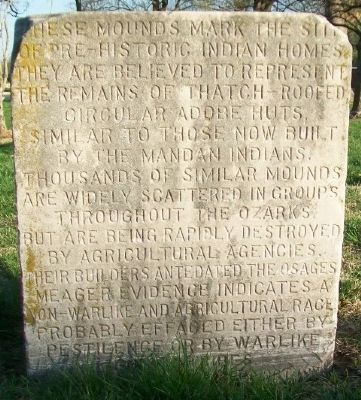 Indian Mounds Marker (Side A) image. Click for full size.