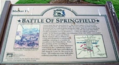 Battle of Springfield Marker image. Click for full size.