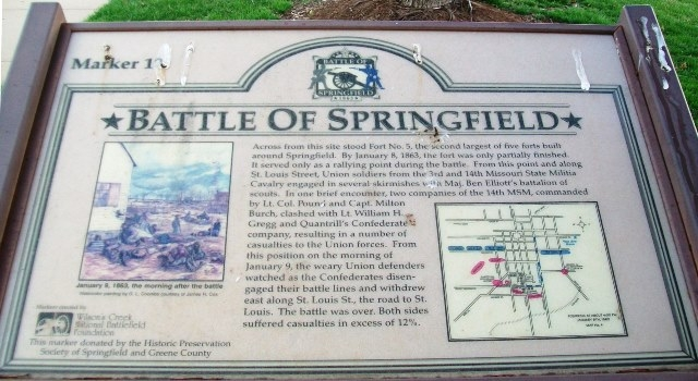 Battle of Springfield Marker