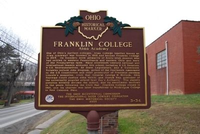 Franklin College Marker image. Click for full size.